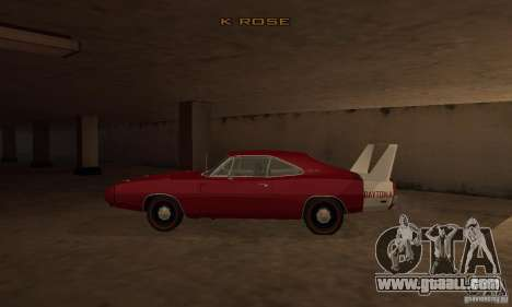 Dodge Charger Daytona 1969 for GTA San Andreas left view