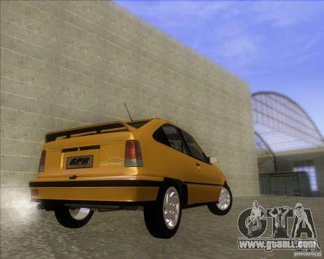 Chevrolet Kadett GSi 2.0 (1991-1995) for GTA San Andreas back left view