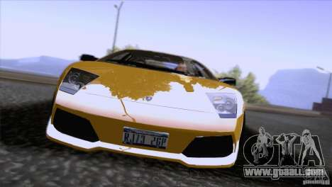 Lamborghini Murcielago LP640 2006 V1.0 for GTA San Andreas inner view