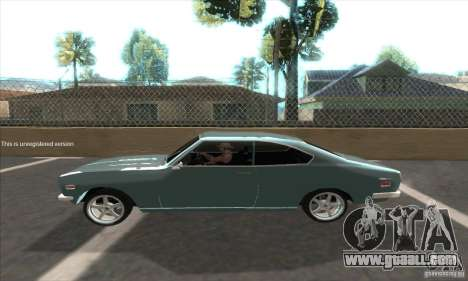 Mazda RX-2 2-door Coupe US for GTA San Andreas back left view