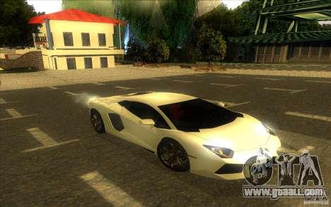 Lamborghini Aventador LP700-4 for GTA San Andreas bottom view