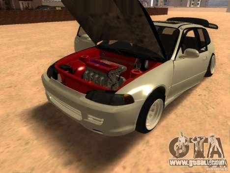 Honda Civic EG6 for GTA San Andreas back view