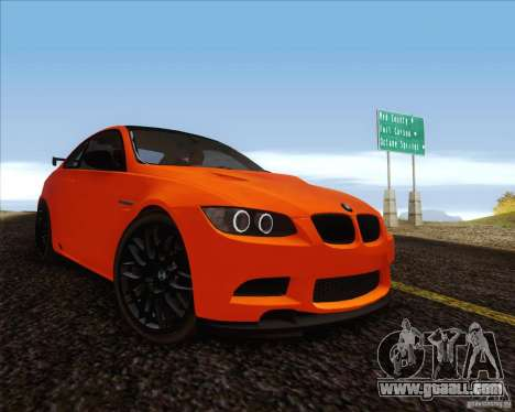 BMW M3 GT-S for GTA San Andreas