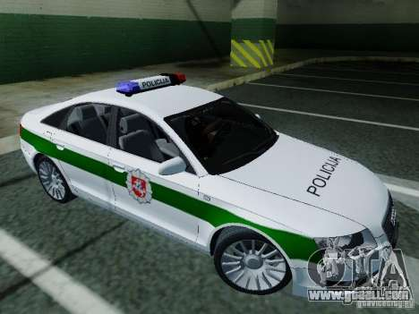 Audi A6 Police for GTA San Andreas left view