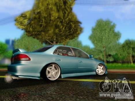 Honda Accord 2001 for GTA San Andreas left view