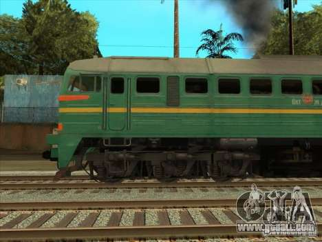 Freight locomotive Baltic States railway picture for GTA San Andreas right view
