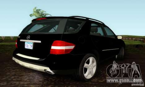Mercedes-Benz ML500 for GTA San Andreas back left view