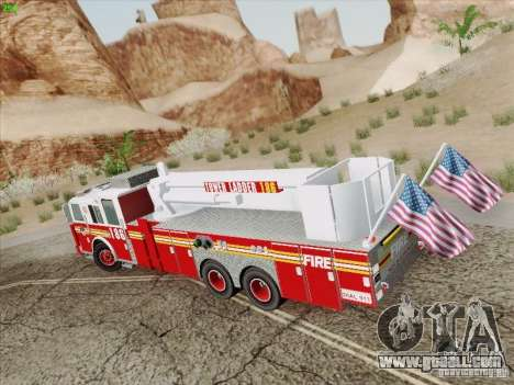 Seagrave Marauder. F.D.N.Y. Tower Ladder 186 for GTA San Andreas back left view