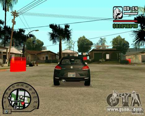 Volswagen Scirocco for GTA San Andreas back view