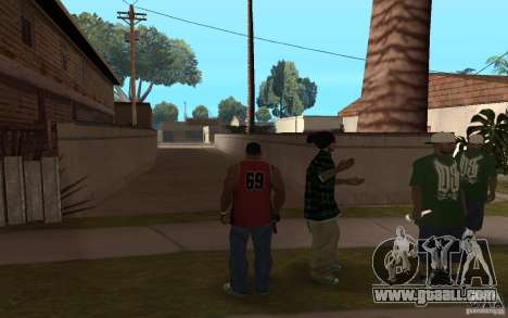 Grove Street Skin Pack for GTA San Andreas forth screenshot