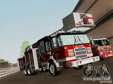 Pierce Rear Mount SFFD Ladder 49 for GTA San Andreas wheels