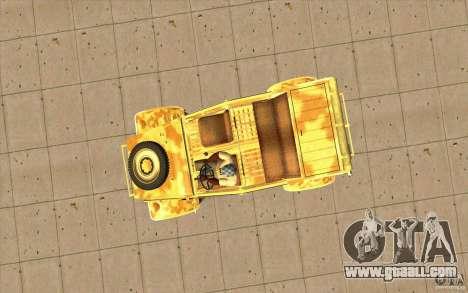 Kuebelwagen v2.0 desert for GTA San Andreas right view