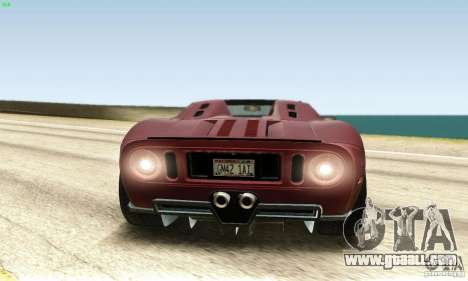 Ford GTX1 Roadster V1.0 for GTA San Andreas back view
