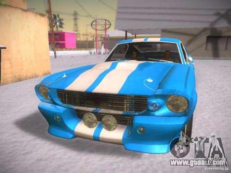 Shelby GT500 Eleanor for GTA San Andreas