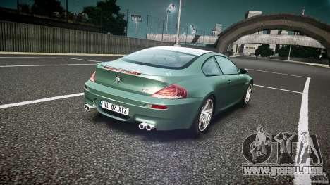 BMW M6 v1.0 for GTA 4 upper view