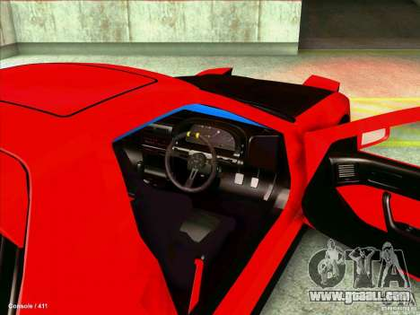 Mazda RX7 for GTA San Andreas inner view