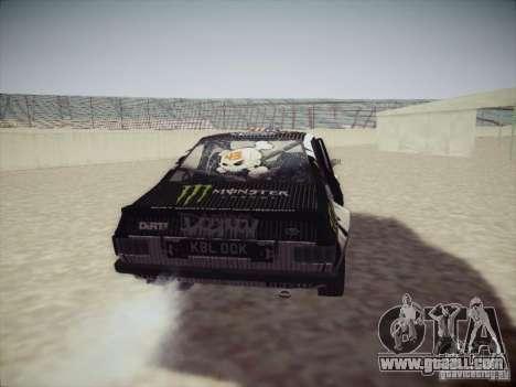 Ford Escort MK2 Gymkhana for GTA San Andreas back view