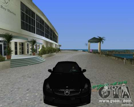 Mercedess Benz SL 65 AMG Black Series for GTA Vice City back left view