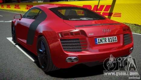 Audi R8 V8 2008 v2.0 for GTA 4 left view