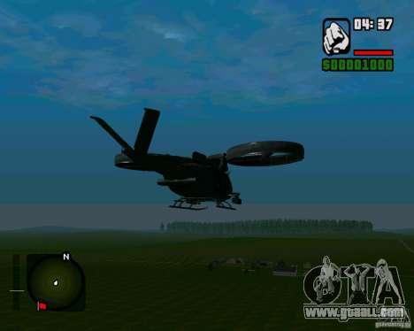 SA-2 Samson for GTA San Andreas back left view