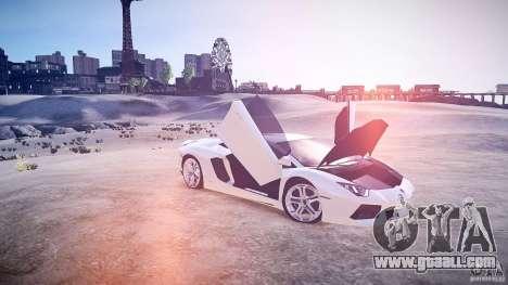 Lamborghini Aventador LP700-4 v1.0 for GTA 4 inner view