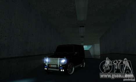 Mercedes Benz G500 ART FBI for GTA San Andreas inner view