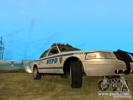 Ford Crown Victoria NYPD Police for GTA San Andreas inner view
