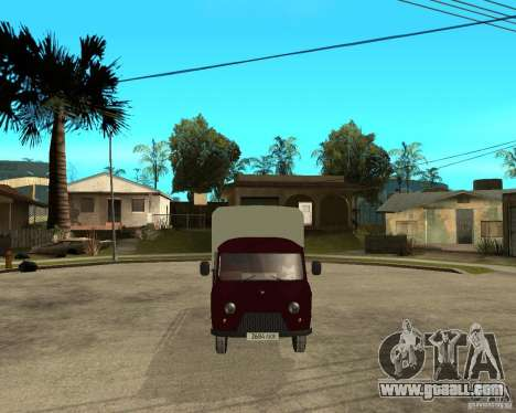 UAZ 452 cargo 6 x 6 for GTA San Andreas back view