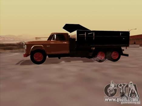 Dodge Dumper for GTA San Andreas back view