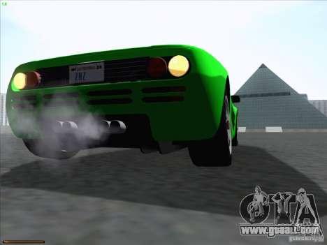 McLaren F1 for GTA San Andreas inner view