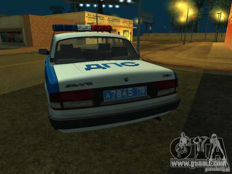 GAZ 3110 Police for GTA San Andreas right view