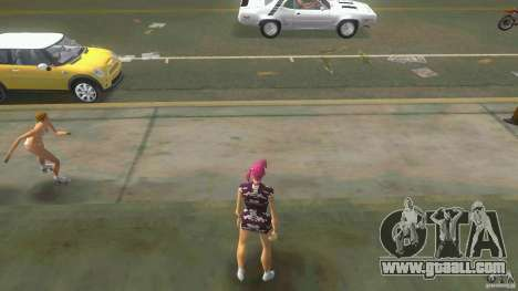 Girl Player mit 11skins for GTA Vice City second screenshot
