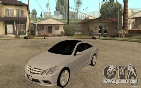 Mercedes Benz E-CLASS Coupe for GTA San Andreas