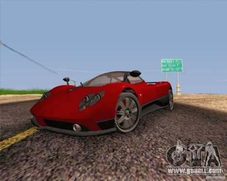 Pagani Zonda F v2 for GTA San Andreas back view