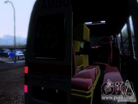 Gazelle 2705 ambulance for GTA San Andreas inner view