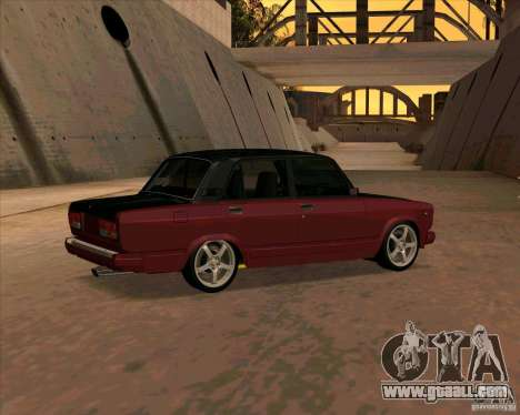 Vaz 2107 for GTA San Andreas right view