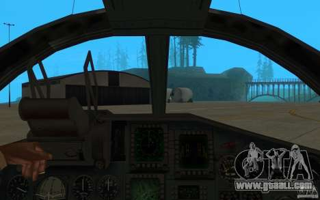 The Su-34 for GTA San Andreas back view