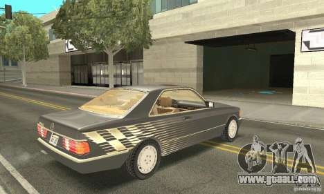 Mercedes-Benz W126 560SEC for GTA San Andreas side view