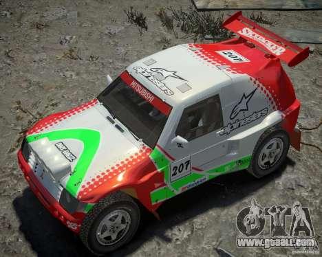 Mitsubishi Pajero Proto Dakar EK86 Vinyl 2 for GTA 4 bottom view