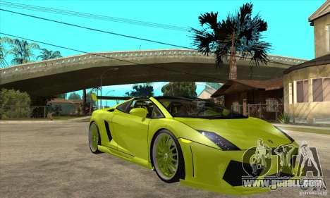 Lamborghini Gallardo LP560-4 Hamann for GTA San Andreas inner view
