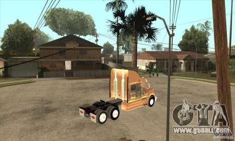 Peterbilt 387 skin 3 for GTA San Andreas back view