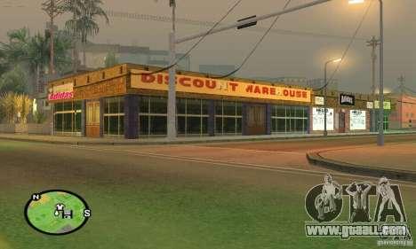 Shop ADIDAS for GTA San Andreas third screenshot