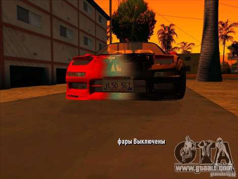 Acura NSX 1991 Tunable for GTA San Andreas