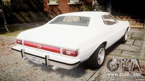 Ford Gran Torino 1975 v1.1 for GTA 4 back left view