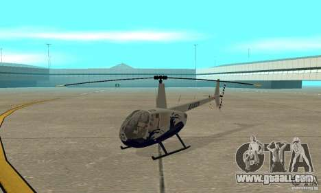 Robinson R44 Raven II NC 1.0 Skin 4 for GTA San Andreas left view