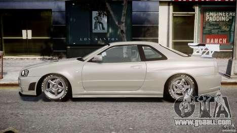 Nissan Skyline R34 Nismo for GTA 4 left view