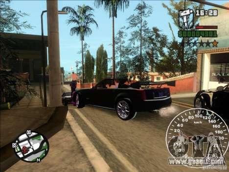 Cadillac XLR for GTA San Andreas back left view