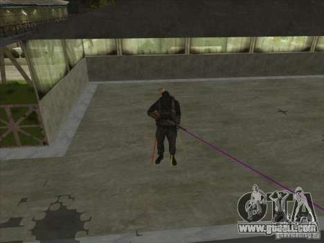Weapon with laser for GTA San Andreas third screenshot