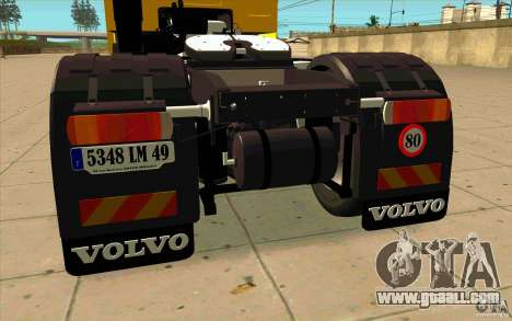 Volvo FH16 Globetrotter DHL for GTA San Andreas right view