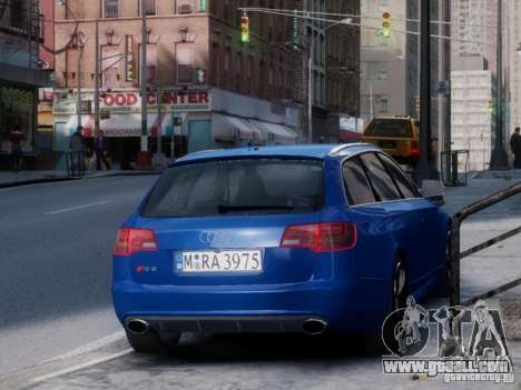 Audi RS6 Avant for GTA 4 back left view